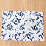 Random Color Rectangular Print Placemat  Cotton Blend Material Hotel Dining Table / Table Decoration