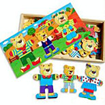 Jigsaw Puzzles Educational Toy / Jigsaw Puzzle Building Blocks DIY Toys Square 1 Wood Rainbow Leisure Hobby