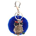 Key Chain Sphere / Eagle Key Chain Navy Blue Metal / Plush