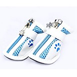 Cat / Dog Shoes & Boots Cute Winter / Summer / Spring/Fall Color Block Blue PU Leather (Random Color)