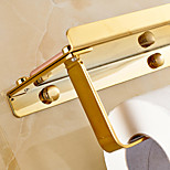 Gold-Plated Finishing Solid Brass Material toilet paper holder bathroom mobile holder toilet paper holder