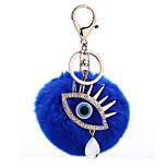 Key Chain Sphere Key Chain Navy Blue Metal / Plush