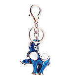 Key Chain Elephant Key Chain Red / Blue / Orange Metal