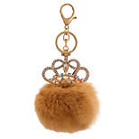 Key Chain Sphere Orange Metal Plush