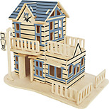 Jigsaw Puzzles Wooden Puzzles Building Blocks DIY Toys The Italian Garden 1 Wood Ivory Model & Building Toy