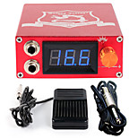 Solong tattoo Aluminum Digital LCD Display Black Color P106-2Tattoo Power SupplyFoot PedalClip Cord