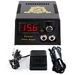 Solong tattooNew LCD Digital Tattoo Power Supply Foot Pedal  Clip Cord Kit P142-3