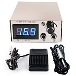 Solong Tattoo Double Output Digital Tattoo Power Supply  Foot Pedal  Clip Cord Kit P105