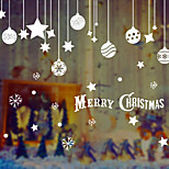 Ornaments Wall sticker Unlit Characters Holiday Paper Christmas Decoration