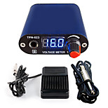 Solong tattoo New LCD Digital Tattoo Power Supply Foot Pedal  Clip Cord Kit P168-3