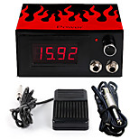 Solong Tattoo Professional Dual Machine  Tattoo Power Supply  clip cord foot pedal P174