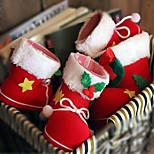 2PCS Christmas Decorations Candy Boots 9*6*10CM