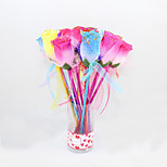 Fashion Plastic/Laser Paper Handmade Flower BallPoint Pen