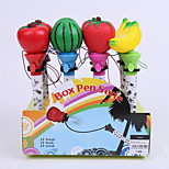 Creative Plasti/Silica Gel Fruit Series Decal Penholder Bounce BallPoint Pen