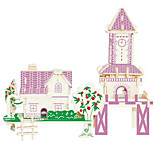 Jigsaw Puzzles Wooden Puzzles Building Blocks DIY Toys Green Romantic Cabin 1 Wood Ivory Model & Building Toy