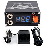 Solong tattoo Aluminum Digital LCD Display Black Color P106-1Tattoo Power SupplyFoot PedalClip Cord