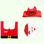 Christmas Originality Three-piece Toilet Santa Claus Device