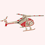 Jigsaw Puzzles Wooden Puzzles Building Blocks DIY Toys Robinson Helicopter 1 Wood Ivory Model & Building Toy