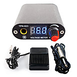 Solong tattoo New LCD Digital Tattoo Power Supply Foot Pedal  Clip Cord Kit P168-4