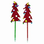 Christmas Plastic/Non Woven Fabric/Hair Ball Small Bell Tree Style BallPoint Pen