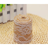 The volume of natural 50x50 New Jute Linen Lace lace cloth roll Christmas decorations  two meters