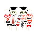 24PCS Graduation Card Paper Photo Booth Props Party Fun Favor