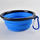 Dog Feeders Pet Bowls & Feeding Portable Foldable Red Black Green Blue Yellow Purple Orange Rose Silicone