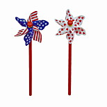 Creative Plastic Print Heart Flag Windmill Style BallPoint Pen