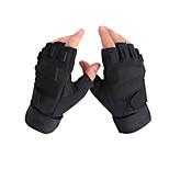 Wearable Nylon Black Unisex Hunting Gloves