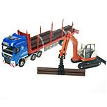 Camión Vehículo de construcción Juguetes Juguetes de coches 1:50 Metal ABS Plástico Azul Modelismo y Construcción