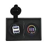 12v led display voltmetro e 3.1a adattatore USB digitale con pannello di supporto alloggiamento per barca auto camion rv
