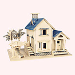 Jigsaw Puzzles Wooden Puzzles Building Blocks DIY Toys  Ocean Villa 1 Wood Ivory Model & Building Toy