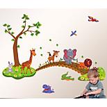 Botânico Wall Stickers Autocolantes de Aviões para Parede,PVC 60X90X0.1