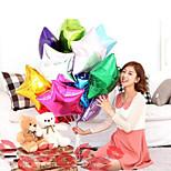 10pcs dois tipos de forma de 10 polegadas do casamento da estrela do balão cor aleatória grande balões folha de alumínio presente de