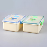 Microwave Safe Rectangular Lunch Box with Locked Lid