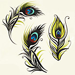 1pc Halloween Tattoo Paste Color Tattoo Stickers A Larger Version Waterproof Feather
