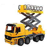Construction Vehicle Pull Back Vehicles Car Toys 1:24 Metal Plastic Yellow Model & Building Toy