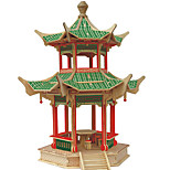 Jigsaw Puzzles Wooden Puzzles Building Blocks DIY Toys  Double Eave Roof Six Jiao Ting 1 Wood Ivory Model & Building Toy