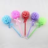 Fashion Lace/Ribbon/Plastic Handmade Rose Style Craft BallPoint Pen