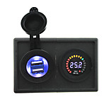 24V led digital display voltmeter and 4.2A USB adapter with housing holder panel for car boat truck RV