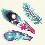 1pc Halloween color de la pasta tatuaje tatuaje pegatinas una pluma impermeable versión más grande