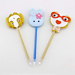 Cartoon Non-woven/Plastic Handmade Modelling Craft BallPoint Pen(Two-sided)