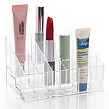 Makeup Storage Acrylic Transparent 24 Lattice 14.5*9.5*7.5 Acrylic Trapezoid Lipsticks Cosmetic Perfume Organizer Display Holder Storage Shelf