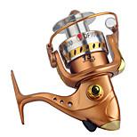 Катушки для спиннинга Спиннинговые катушки 2.6:1 13 Шариковые подшипники Заменяемый Обычная рыбалка-DF GOLD