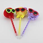 Three-dimensional Non-woven/Plastic Handmade Lovely Glasses Cartoon Style Craft BallPoint Pen