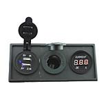 12v / 24v potenza charger3.1a porta USB e indicatore amperometro corrente con pannello di supporto alloggiamento per camion barca auto