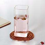 Transparent Drinkware Decoration Glass Juice Milk Tea Cup