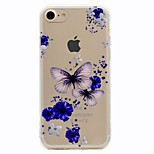 For Butterfly Pattern Soft TPU Material Phone Case for iPhone 7 Plus 7