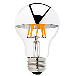 1PCS 6W B22/E27 Half Silver LED Filament Bulbs G60 6 COB 600 lm Warm White Dimmable AC 220-240 AC 110-130 V