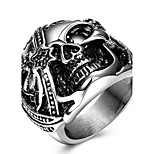 Men's Ring Rock Statement Titanium Steel Unique Fashion Cool Punk Skull Ring For Men Finger Rings Party Daily Casual Jewelry Vintage